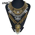 Collar Gold Necklaces & Pendants Vintage Crystal Maxi Choker Statement Silver Collier Femme Boho Big Fashion Women Jewellery