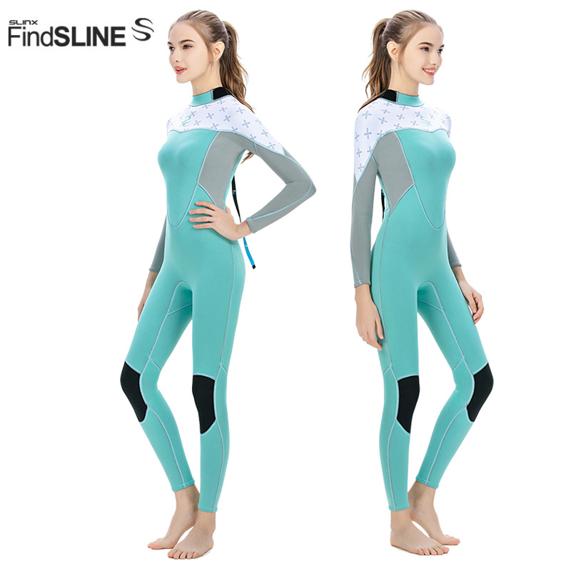 Slinx women s wetsuis 2mm neorpene aqualung one piece Wetsuit super elastic Slim for surfing wet