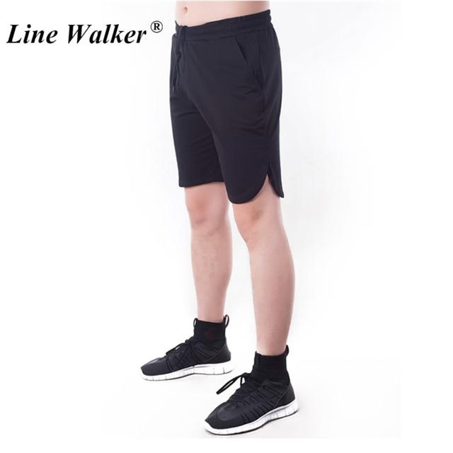 527e214125 Line Walker Mens Shorts Running Sport Men's Brand Boardshorts Beach Gym  Pocket Sweatpants Body Building Quick Dry Summer Shorts