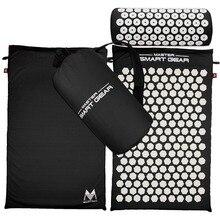 Точечный массаж мат Подушка Набор коврик для йоги для снимает стресс сзади шеи седалищного боль релаксации снять напряжение