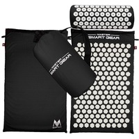 Acupressure Massage Mat Pillow Set Yoga Mat for Relieves Stress Back Neck Sciatic Pain Relaxation Tension Release