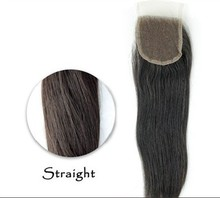 7A Brazilian Straight Sugar Virgin Hair Lace Closure 4*4 Straight Lace Closure Free/Middle Part Brazilian Virgin Hair Closure