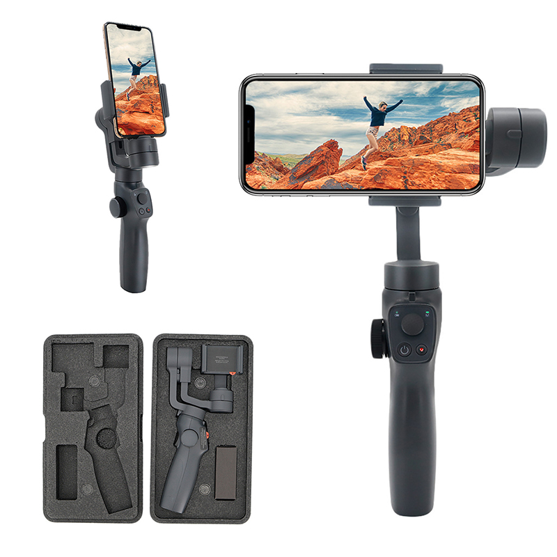 Eyemind 2 Smartphone à main cardan 3 axes stabilisateur visage suivi Selfie bâton pour iPhone Huawei Samsung GoPro Osmo Action