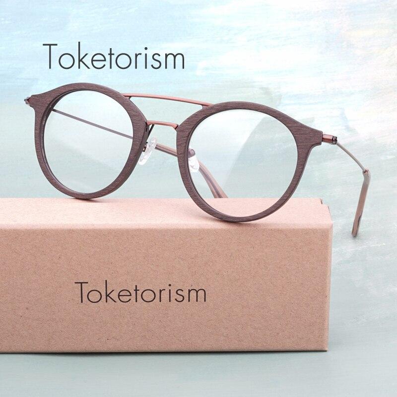 aa8ffea50951 Toketorism High quality Acetate optical eyeglasses frame double bridge  vintage oversize glasses men women 50CB