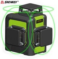 SNDWAY laser level 3d 12 lines Green laser level tripod self leveling laser Leveler 360 degree laser level construction tools