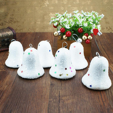 6pcs 6.5cm Christmas Tree Pendant Christmas Bubble Ball Bell Party Decoration