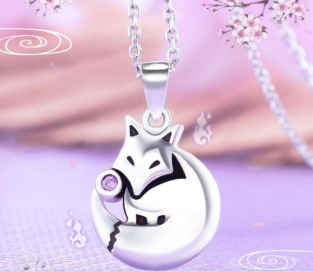 Anime Kamisama Love Kamisama Kiss Fox Pendant Necklace 925 Silver