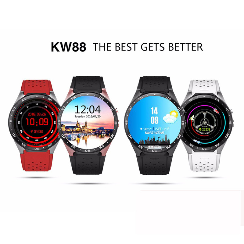 Jakcom Smartwatch KW88 Smart Watch Android Bluetooth Smartwatch 1.39 inch 400*400 support 3G wifi Heart Rate For Android KW88 2017 new wearable devices smart watch q7 support max 32gb tf card android 5 1 3g wifi bluetooth for android pk kw88 smartwatch