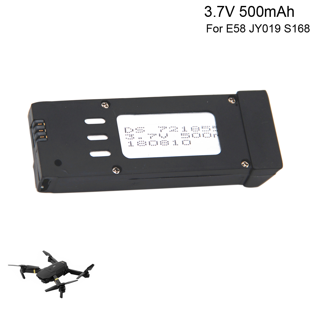 3.7V <font><b>500mAh</b></font> lipo <font><b>Battery</b></font> for M68 S168 E58 JY019 Spare Parts for Folding 4-axis UAV D30 Rechargeable <font><b>Battery</b></font> toy accesory <font><b>3.7</b></font> V image
