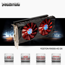 Yeston Radeon RX 550 GPU 4GB GDDR5 128bit Gaming Desktop computer PC Video Graphics Cards support DVI/HDMI PCI-E X8 3.0