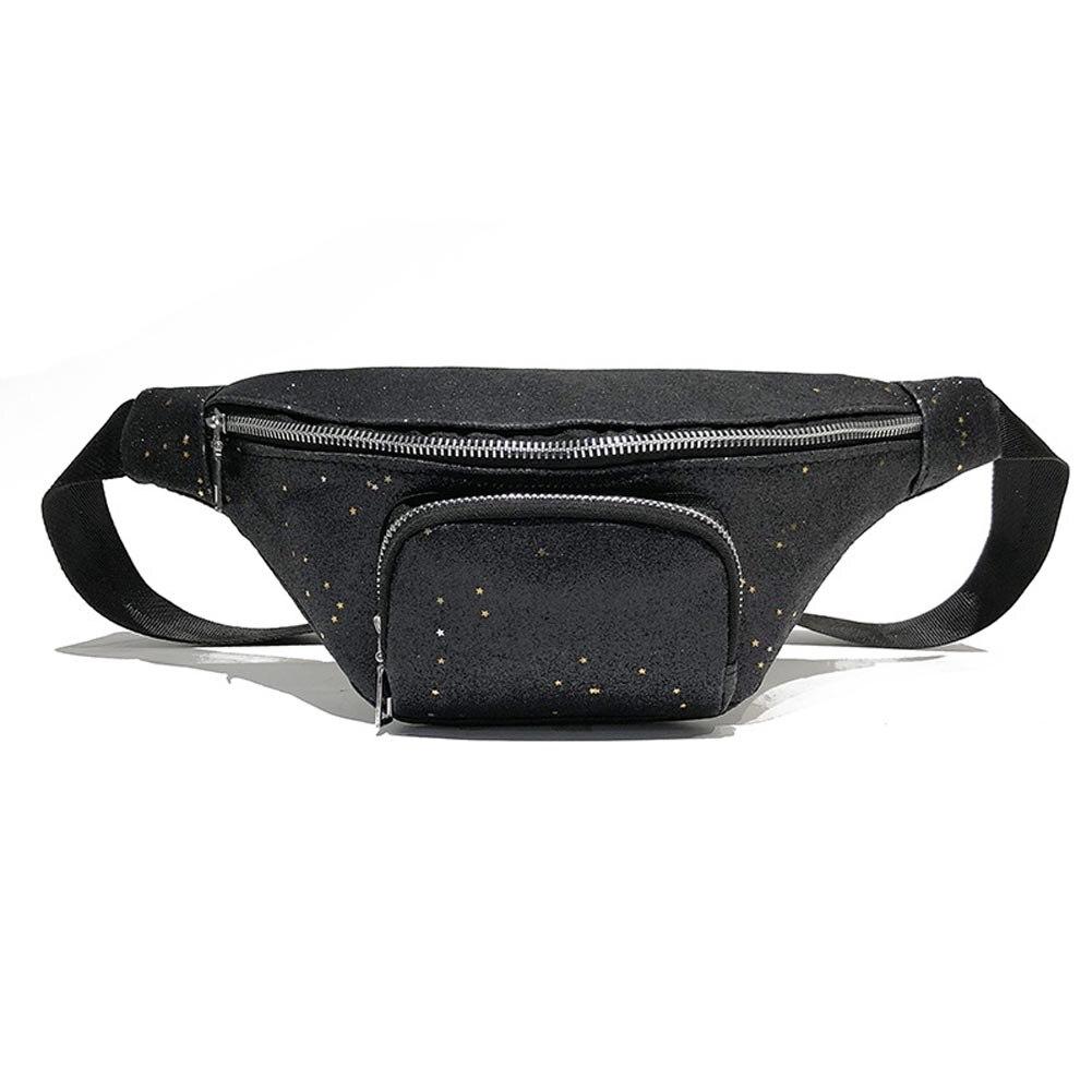 Fashion PU Leather Fanny Pack bling sequins Waist Bag Bananka Waterproof Antitheft Walking Belly band belt bag high quality