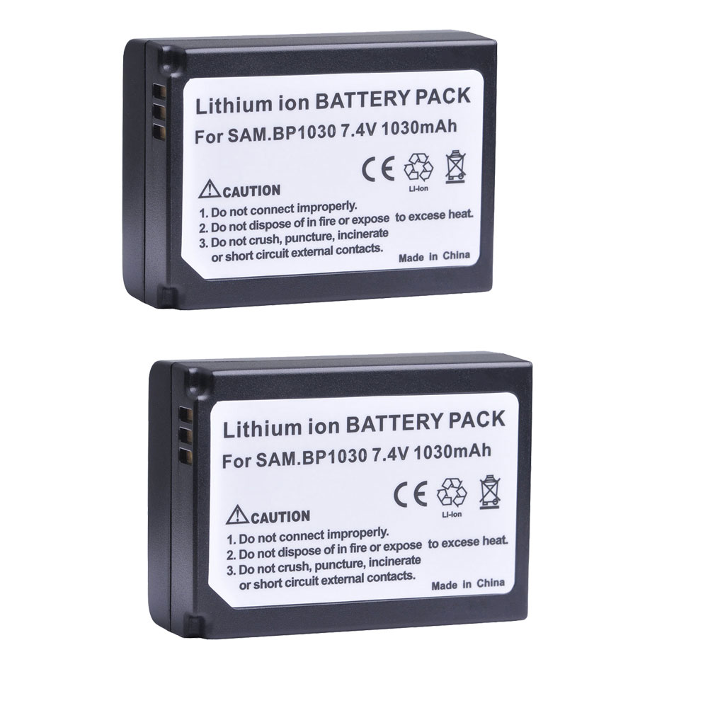 Tectra 2pcs BP-1030 BP 1030 BP1030 Rechargeable <font><b>Battery</b></font> for <font><b>Samsung</b></font> NX200 NX210 NX300 NX500 NX1000 <font><b>NX1100</b></font> NX-300M <font><b>Batteries</b></font> image