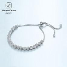 7d2c85cb85c0 WARME FARBEN de cristal de Swarovski pulsera para las mujeres de Color de  plata de diamantes de imitación brazalete y pulsera mu.