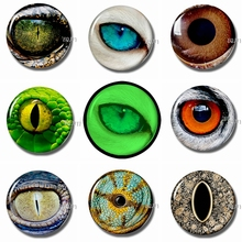 30MM Glass Fridge Magnets Luminous Animal Eyes Refrigerator Notes Magnetic Stickers for DIY Home Decor