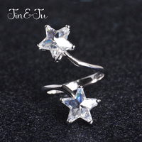 Jin Ju Silver Jewelry 925 Sterling Silver Luxury Wedding Anniversary Engagement Ring New Design Star Design