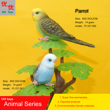 Hot toys two color Parrot Simulation model Animals kids toys children Action Figures Action Figures Collections