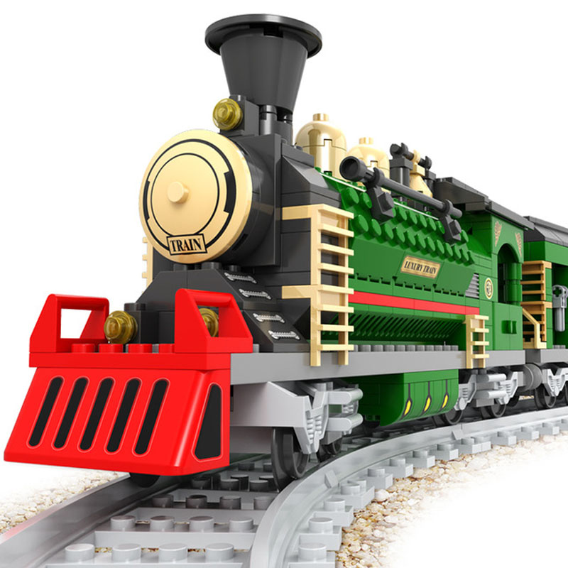 Model building kits Water steam train 3D blocks Educational model building toys hobbies for children gifts Compatible With Lego