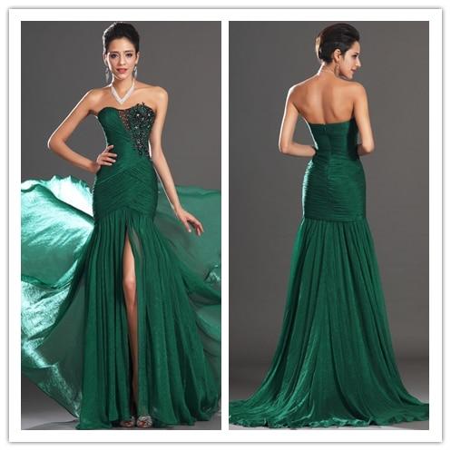 Vestido casamento longo verde