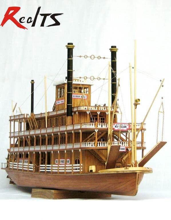 Realts Весы дерева лодки 1/100 классические деревянные пара корабль USS Миссисипи модель комплект