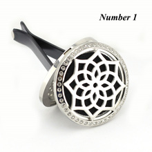 35MM Magnetic Car Diffuser Locket Essential Oil Hollow Perfume Aromatherapy Pendant With Pads