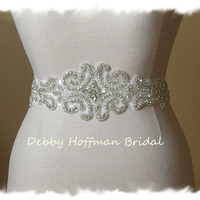 Rhinestone Crystal Bridal Belt Wedding Dress Sash Jeweled Bridal Sas Beautiful Sash For The Bride Holidays