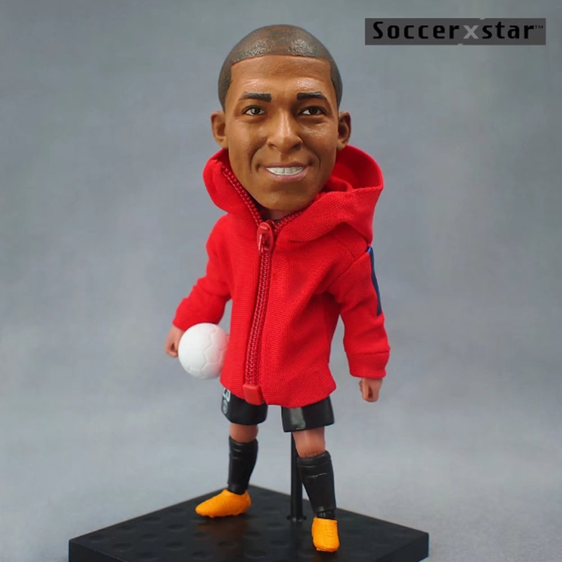 Soccerxstar Figurine Football Player Movable Dolls 29# MBAPPE (Paris 2018) 12CM/5in Figure BOX include Accessories soccerwe dolls figurine football stars 17 18 7 c ronaldo movable joints resin model toy action figure dolls collectible gift