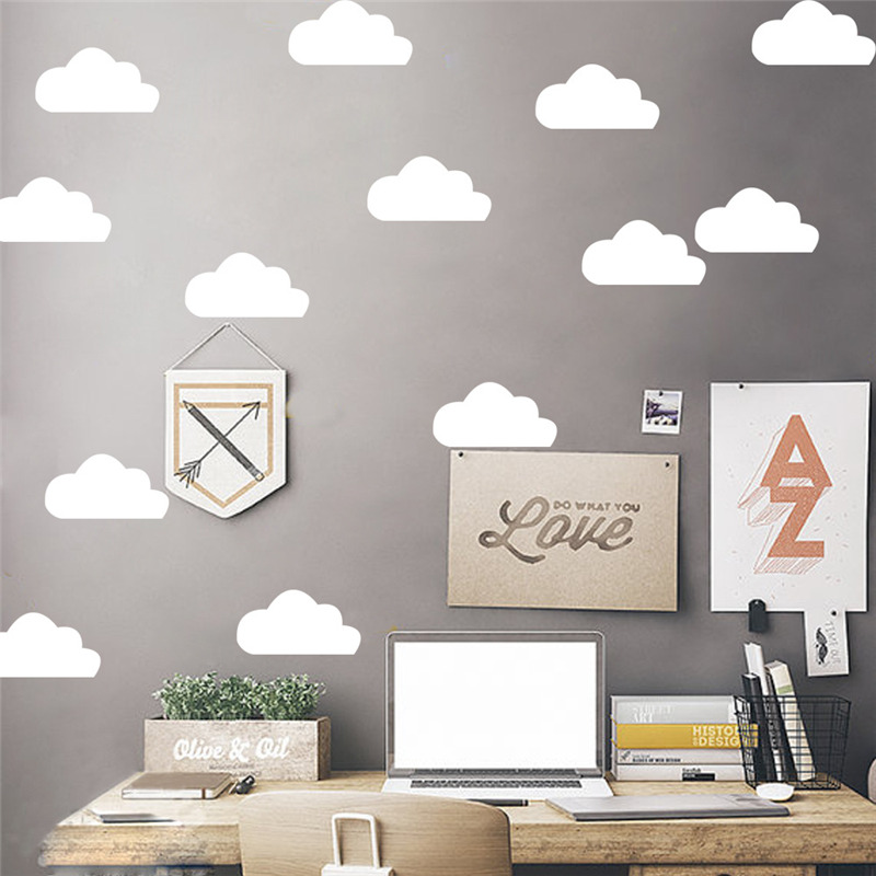 multisize clouds wall sticker diy wallpaper removable waterproof