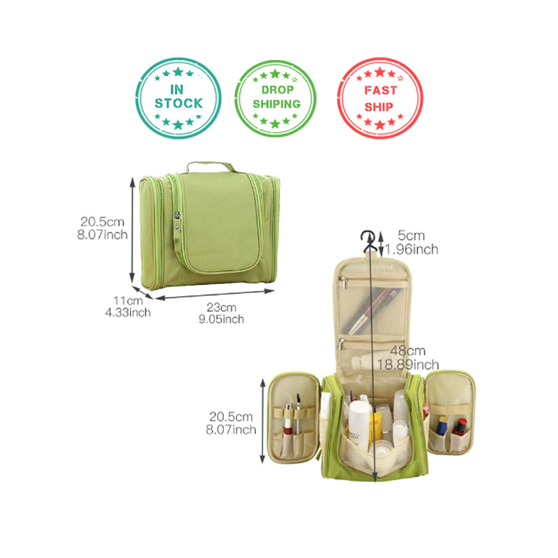 Waterproof Travel Organizer Bag Unisex Hanging Makeup Storage Bags - Organisasi dan penyimpanan di dalam rumah - Foto 2