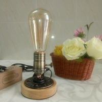 Vintage Ceramic Lamp Edison Desk Lamp 40w Personality Decoration Retro Bedside Light For Bedroom Table Light Lamparas De Mesa
