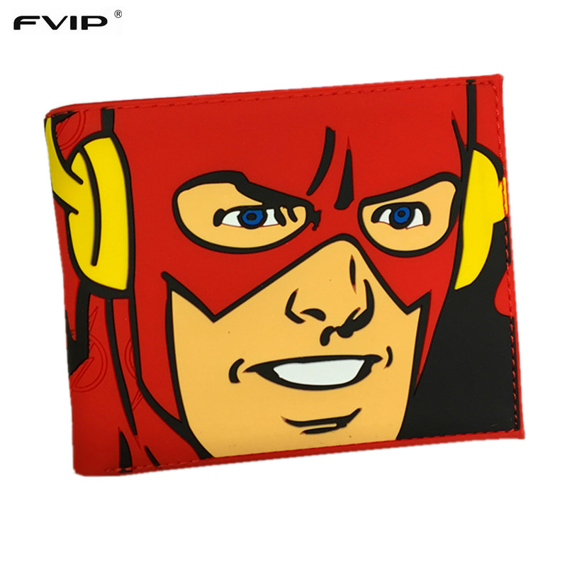 FVIP Comics Dc Marvel Heros Iron Man /Thor/Captain America/Superman/Flash/Batman/Hulk/Star Wars 3D PVC Purse Cartoon Wallet light clouds туалетная вода для женщин 30 мл