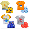 Brand Summer Children Girls Clothing Set 100% Cotton Boys Clothing Set 1-6 Years Kids Clothes Sets Baby Boys Sports Suit