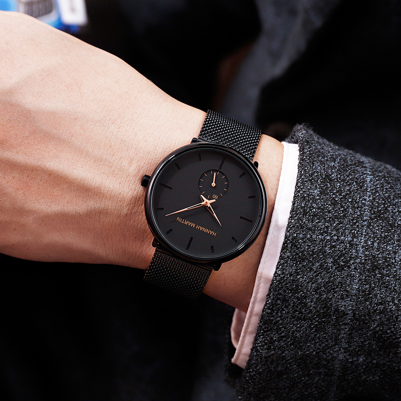 Dropship 2019 New Simple Design Waterproof Stainless Steel Mesh Small Dial Men Watches Top Brand luxury Quartz relogio masculino 4