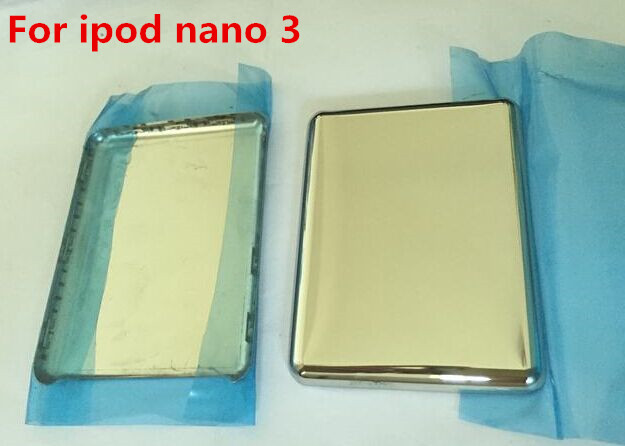 Silver Color Metal Back Housing Cover Back Battery Case Shell For IPod Nano 3 4gb 8gb