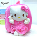 2017 New Children Plush Backpack Kids School Bags Cute Cartoon Hello Kitty Mickey Mouse Bags For Boys Girls Kids Toys 5 Types