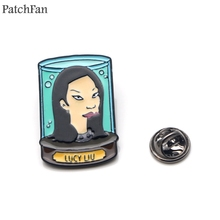 Patchfan Futurama Zinc tie cartoon Funny Pins backpack clothes brooches for men women hat decoration badges medals A1523 светильник donolux a1523 a1523 nm