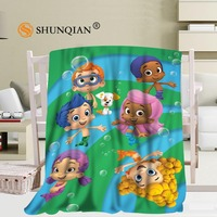 Custom Bubble Guppies Blanket Soft DIY Picture Decoration Bedroom Size 56x80Inch,50X60Inch,40X50Inch A7.10