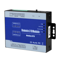 Optial islated Din Modbus Remote IO Data Acquisition Module Modbus RTU 2 AIN 2 Relay Output M100