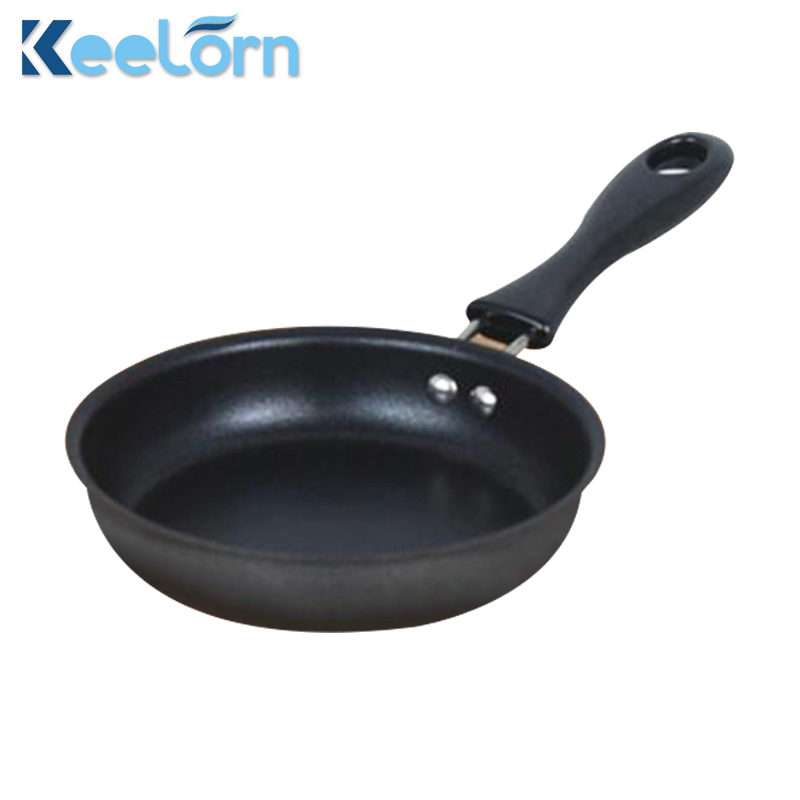 Keelorn 12 Cm Cast Iron Mini Frying Pan, Breakfast Fried Egg Pan Can Be Used For Gas Stove And Induction Cooker