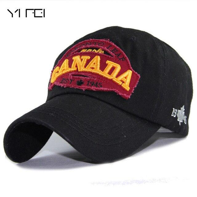 1bf6d541 100% Cotton Baseball Cap Men Snapback Caps Casquette Hat For Women Hip Hop  Canada Letters