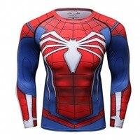 Spiderman 3D Stampato T-Shirt da Uomo Compressione Shirt 2017 NUOVO Top Per Gli Uomini Crossfit Fitness BodyBuilding Abbigliamento