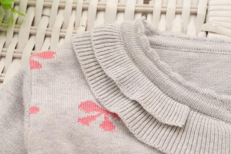 o-pescoço sólido arco padrão crianças camisola