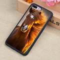 Increíble caballo animal print soft de goma cajas del teléfono móvil accesorios para iphone 6 6 s plus 7 7 plus 5 se 4 4S 5S 5c cubierta de shell