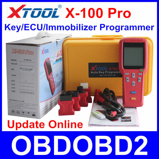 US $239 0 |100% Original XTOOL X100 Pro X 100 Key Programmer For Car's ECU  Immobilizer Pin Code Reader X 100 Update Online Multi Brand Cars-in Auto