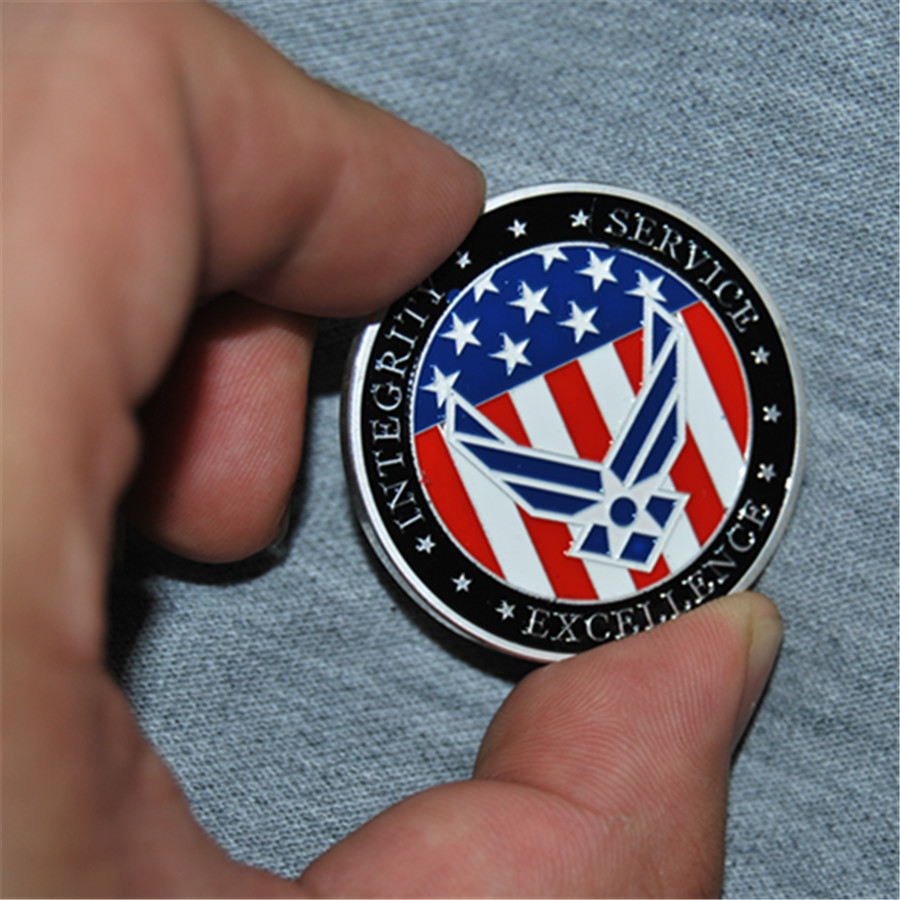 Free Shipping 50pcs/lot,United States Air Force USAF Enlistment Oath Challenge Coin ...