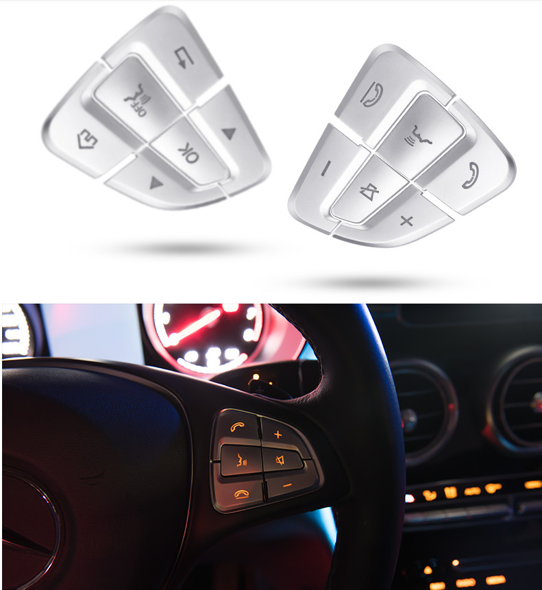 Inner Rear Trunk Switch Button Cover Trim for Mercedes Benz C Class W205 14-19