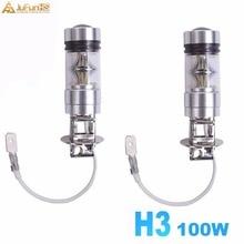 цены на 2PCS White H3 6000K 100W  20-SMD  LED  Projector Fog Driving DRL Light Bulb HID  в интернет-магазинах