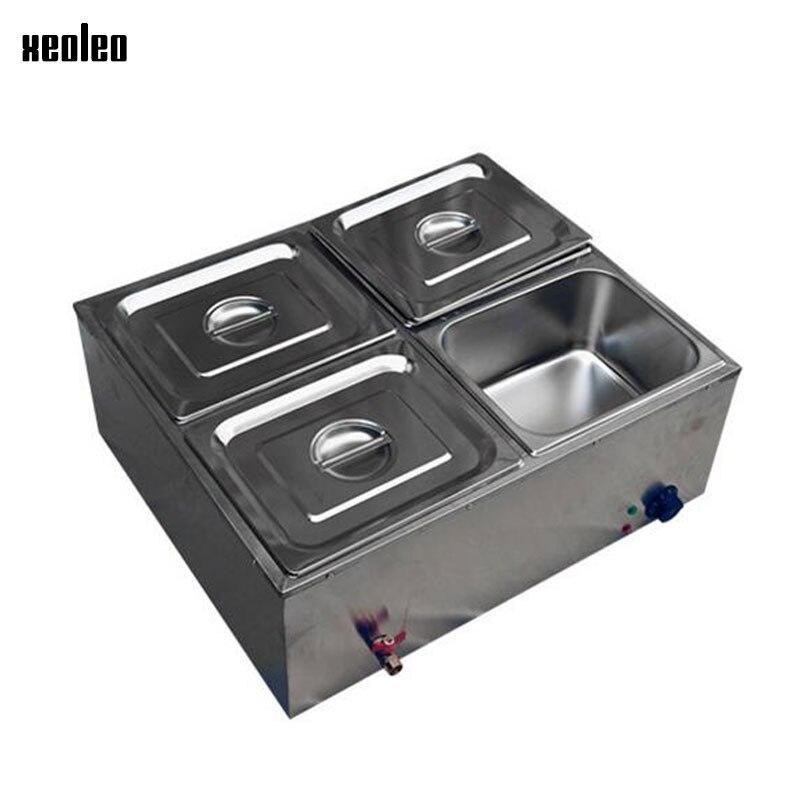 XEOLEO четыре бассейнов Электрический Термальность теплый суп плита коммерческих изоляции машина Еда теплые печи для разогрева Еда тепла 580 В