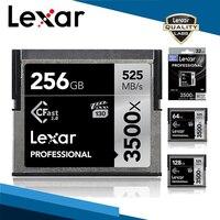 Lexar 32G 64G 128G 128G 256G 512G профессиональная Cfast 2,0 карта памяти 3500X525 M/s высокая скорость для фотографии 4K видео камеры