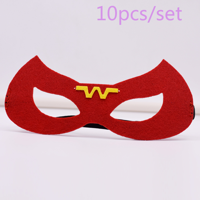 10 pcs ensemble wonder woman masque super h ros superman - Masque superman ...