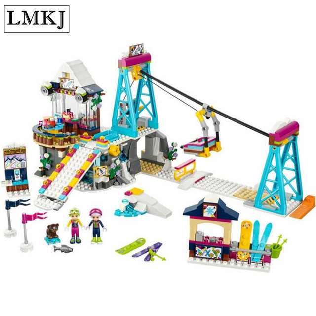 Lepin Friends 632pcs Building Blocks Snow Resrot Ski Lift girls kids Bricks Compatible with Legoingly 41324 toys For Children